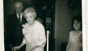 Alene and Jay Puterbaugh at their wedding in 1961.